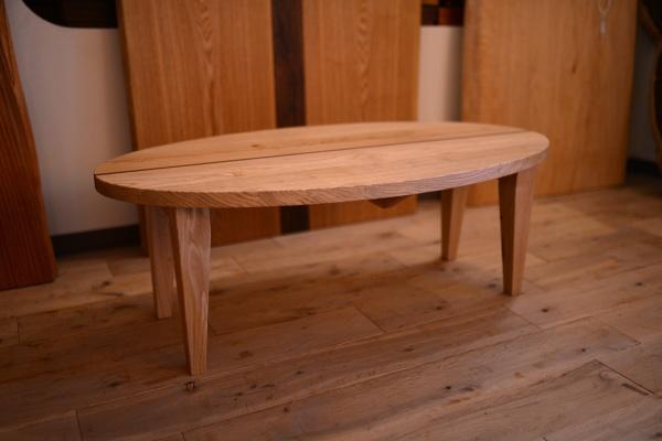 無垢折り畳みテーブル
