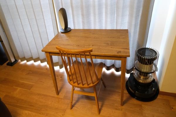 無垢クリ材テーブル02