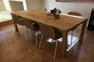 無垢クリ材アンティークテーブル01