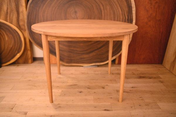 無垢オーク丸テーブル
