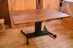 無垢昇降式テーブル