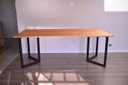 無垢チェリー材V型アイアン脚テーブル01